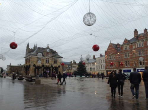 The Cathedral Square in Peterborough is ready to be lit up for the Christmas Market Fair -- we'll be up to see it soon!