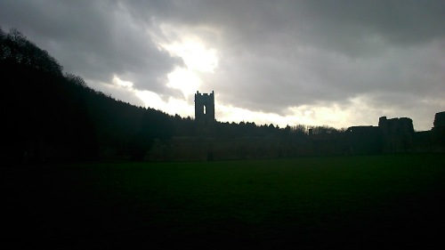 Admittedly, not the best lit photo of the priory ruins